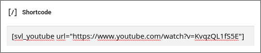 example video lightbox shortcode