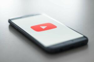 YouTube on a phone