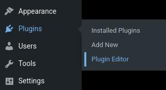 Edit WordPress plugin code