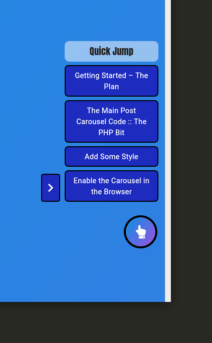 pull-out automatic table of contents for WordPress