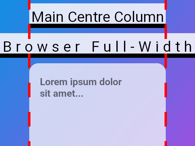Make a div element the full width of the browser
